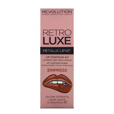 Makeup Revolution - Metallic Lip Kit Retro Luxe - Empress