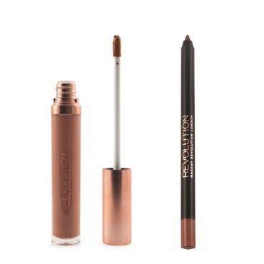 Makeup Revolution - Gloss Lip Kit Retro Luxe - Truth