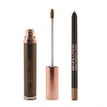 Makeup Revolution - Metallic Lip Kit Retro Luxe - Sovereign