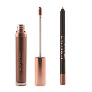 Makeup Revolution - Metallic Lip Kit Retro Luxe - We rule