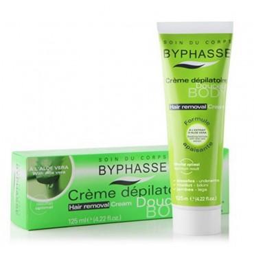 Byphasse - Crema depilatoria formula calmante Aloe Vera 125ml