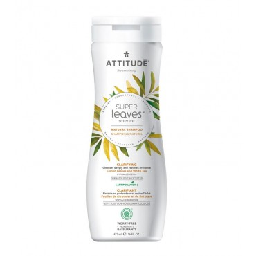 Attitude - Champú Purificante Super Leaves - Limón y Té blanco