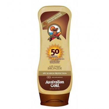 Australian Gold - SUNSCREEN SPF50 Protección solar con bronceador