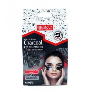 Beauty Formulas - Parches de Gel para Ojos - Carbón Activado