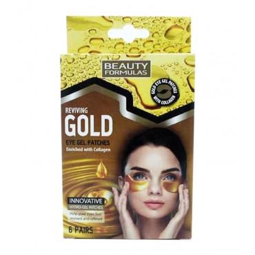 Beauty Formulas - Parches de Gel para Ojos - Gold