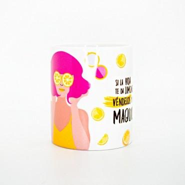 Canarias Makeup - Taza - Si La Vida te Da Limones, Vendelos y Compra Maquillaje