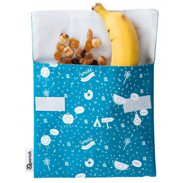Qwetch - Bolsa porta snacks reutilizable - Zero Waste Kids - Turquesa