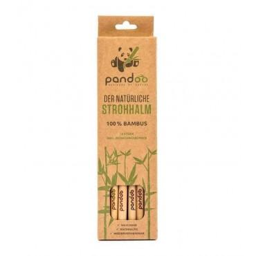 Pandoo - Pajita de bambú reutilizable - 12 Unidades