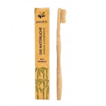 Pandoo - Cepillo de dientes de bambú para niños