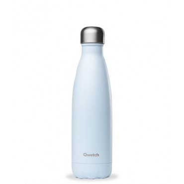 Qwetch - Botella Isotérmica Acero Inoxidable 500ml - Azul Pastel