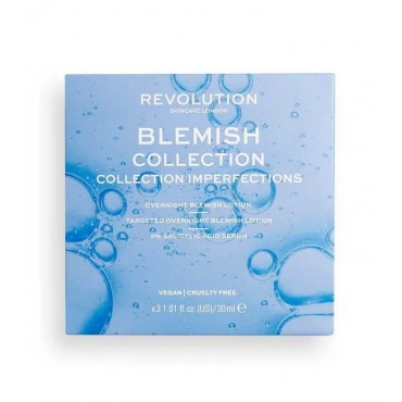 Revolution Skincare - Set de Loción para imperfecciones + Sérum + Loción secante Blemish Collection