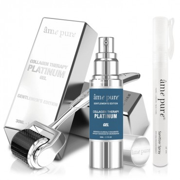 Ame Pure - Platinum Kit - Face Roller 0.50 + Collagen Therapy Gel