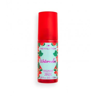 I Heart Revolution - Spray fijador de maquillaje Dewy - Watermelon