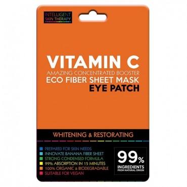Beauty Face - Parches para contorno de ojos de Fibras Eco - Vitamina C