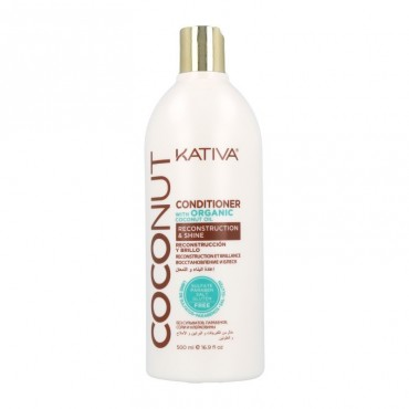 Kativa - Coconut - Acondicionador con Aceite de Coco Orgánico - 500ml
