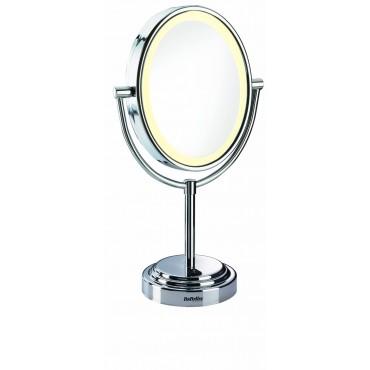 Babyliss - Espejo oval con luz 2 caras 7 aumentos Ref 8437E